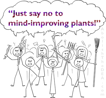 protesting American Drug Warriors just say not to mind-improving plants