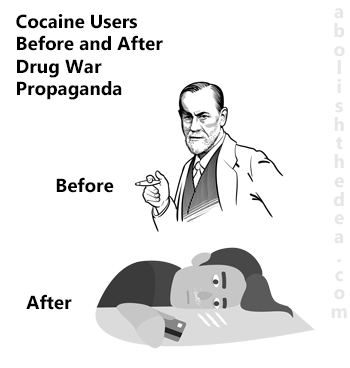 Cocaine users before and after drug war propaganda