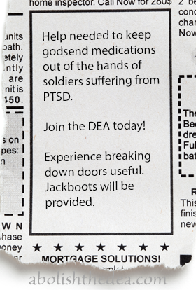 dea jobs: must be willing and able to ruin American lives