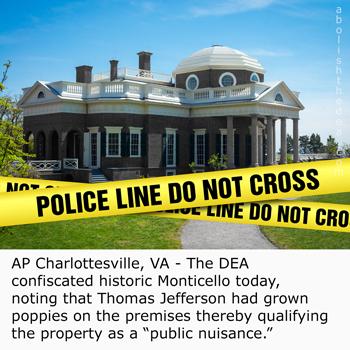 DEA confiscates Monticello as public nuisance