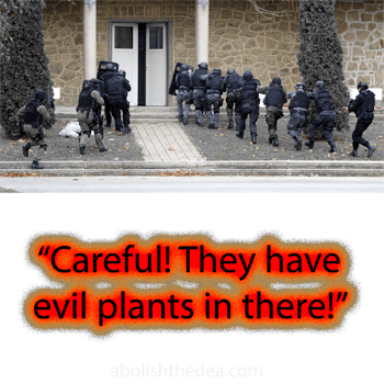 Militarized police crack down on humans who try to access Mother Nature for psychological healing