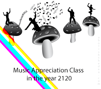 mushroom-fueled music appreciation class in 2120