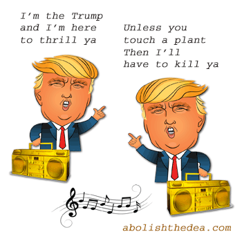 Drug Warrior Trump rapping about killing Americans for using plant medicines - from AbolishTheDEA.com