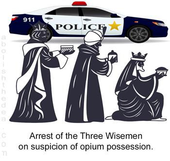 Three Wise Men arrested on suspicion of opium possession