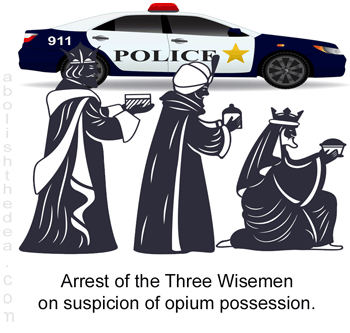 Three Wise Men arrested on suspicion of opium possession