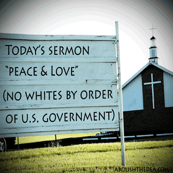 whites not allowed in peyote churches per u.s. government
