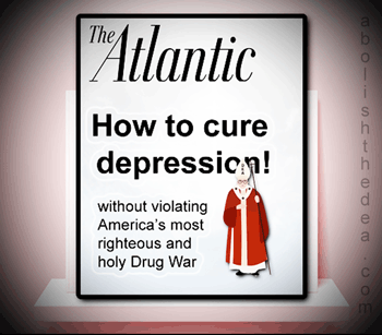Television Ad: Ask your doctor if Big Pharma's addictive brain-fogging anti-depressant effects aright for you