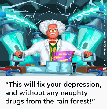 Doctors fry brains rather than using godsend plant medicines to cure the depressed, all thanks to America's anti-scientific drug war